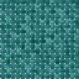 Green turquoise woody rattan wicker weave seamless pattern texture background Stock Photography