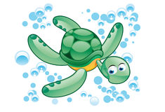 Green turtle cartoon Royalty Free Stock Photography