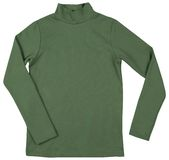Green turtleneck. Isolated on a white Royalty Free Stock Photos