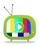 Green tv Stock Photo