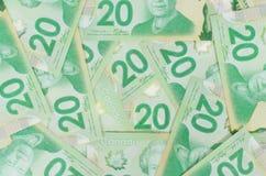 Green twenty bank notes Stock Images