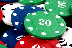 Green Twenty Chip Stock Photos