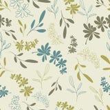 Green twigs seamless pattern Stock Photos
