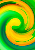 Green twirl circular wave. Royalty Free Stock Photo
