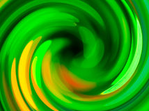 Green twirl circular wave. Stock Photography