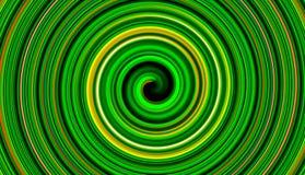 Green twirl circular wave. Royalty Free Stock Photography