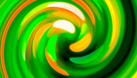 Green twirl circular wave Background. Stock Images