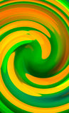 Green twirl circular wave Background. Stock Photo