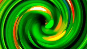 Green twirl circular wave Background. Stock Photography