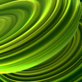Green twisted shape. Computer generated abstract geometric 3D render illustration Royalty Free Stock Photo
