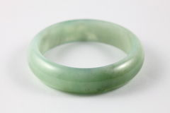 Green Type-A Jade / Jadeite Bracelet Royalty Free Stock Images