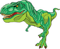 Green tyrannosaurus rex. Isolated illustration Royalty Free Stock Images
