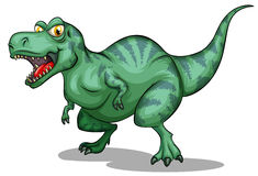 Green tyrannosaurus rex with sharp teeth Royalty Free Stock Images