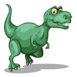 Green tyrannosaurus rex standing Royalty Free Stock Photography