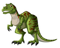 Green tyrannosaurus rex on white background Royalty Free Stock Images