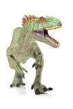 Green tyrannosaurus. On white background Royalty Free Stock Image
