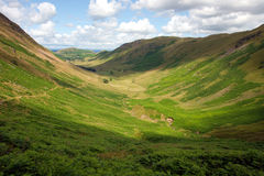 Green U-Shaped Glacial Valley Stock Images