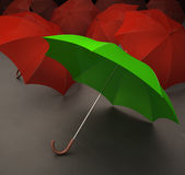 Green umbrella Stock Photo