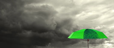 Green umbrella royalty free stock photos