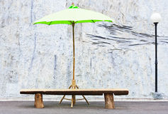 Green umbrella Stock Photos