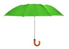 Green umbrella Stock Images