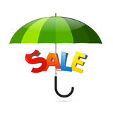 Green Umbrella Illustration Royalty Free Stock Photography