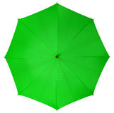 Green umbrella isolated Stock Images