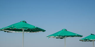 Green umbrella Royalty Free Stock Images