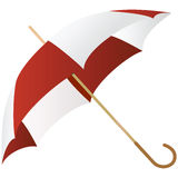 The green umbrella represented on a white Stock Images