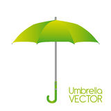 Green umbrella vector Stock Photos