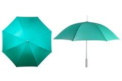Green umbrellas Stock Photo
