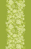 Green underwater plants vertical seamless pattern. Vector Green underwater plants vertical seamless pattern background border with hand drawn elements Royalty Free Stock Photos