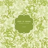 Green underwater seaweed frame seamless pattern Stock Images
