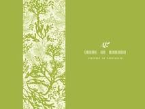 Green underwater seaweed horizontal seamless Royalty Free Stock Images