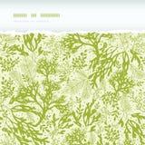 Green underwater seaweed horizontal torn seamless Stock Images