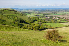 Green Undulating Hills of Sussex Royalty Free Stock Image