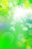 Green unfocused lights background. An abstract green unfocused lights background illustration Royalty Free Stock Photos