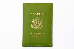 Green United States of America Passport. Isolated on white background Royalty Free Stock Photo