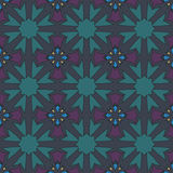 Green universal vector seamless patterns, tiling. Geometric ornaments. Royalty Free Stock Photography