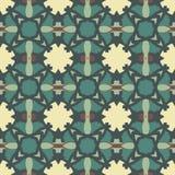 Green universal vector seamless patterns, tiling. Geometric ornaments. Stock Photos