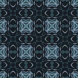 Green universal vector seamless patterns, tiling. Geometric ornaments. Stock Photo