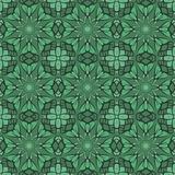 Green universal vector seamless patterns, tiling. Geometric ornaments. Royalty Free Stock Photo