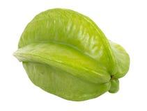 Green unripe starfruit Stock Images