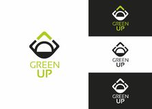 Green UP Logo Royalty Free Stock Image