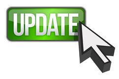 Green update button and a cursor Stock Photo