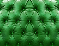 Green upholstery leather Royalty Free Stock Photo