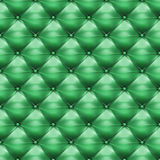Green upholstery leather pattern background Stock Photography