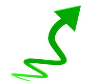 Green upward arrow icon Royalty Free Stock Photos