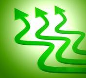 Green upward arrow icon Stock Photos