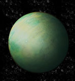 Green Uranus in space Stock Photos